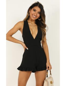 How Right It Is To Care Playsuit In Black by Showpo Fashion