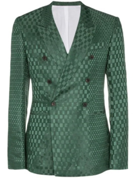 Checked Double Breasted Blazer by Haider Ackermann
