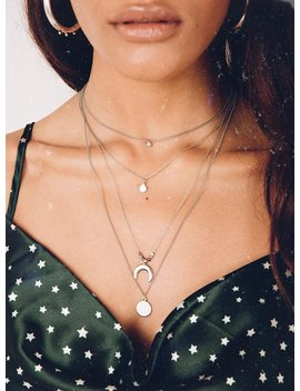 Unchained Melody Layered Necklace Silver by Princess Polly