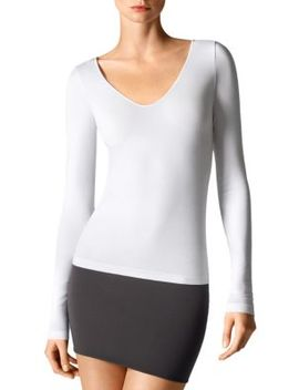 Seamless V Neck Tee by Wolford