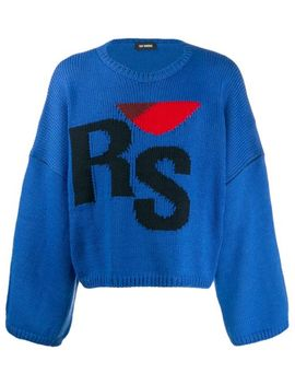 Logo Embroidered Sweater by Raf Simons