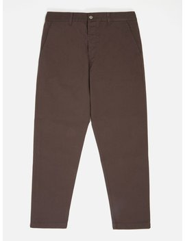 Universal Works Military Chino In Brown Byron Twill by Universal Works