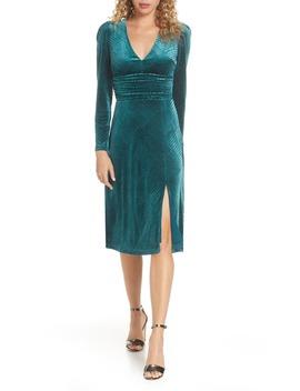 I'm Nominated Long Sleeve Velvet Dress by Ali & Jay