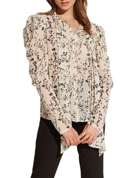 Allison Floral Mutton Sleeve Blouse by Bardot