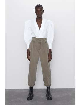 Baggy Paperbag Waist Pants by Zara