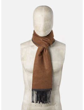 Universal Works Scarf In Cumin/Charcoal Double Sided by Universal Works