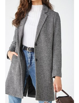 Brushed Chevron Coat by Forever 21