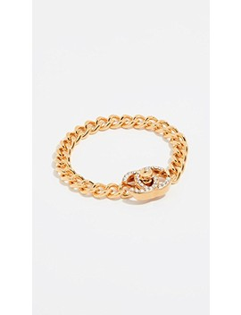 Chanel Small Crystal Turn Lock Bracelet by What Goes Around Comes Around