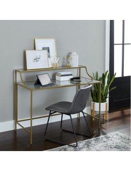Better Homes & Gardens Nola Writing Desk, Gold Finish by Better Homes & Gardens