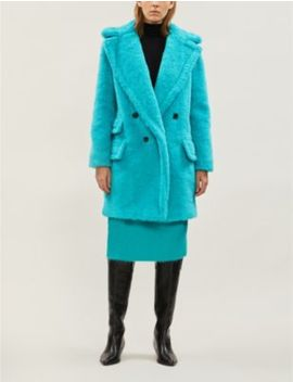 Adenia Double Breasted Alpaca And Wool Blend Coat by Max Mara