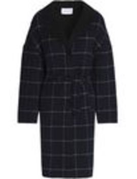 Belted Checked Wool Blend Felt Coat by Claudie Pierlot