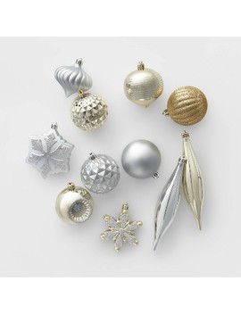 40ct Christmas Ornament Set Silver And Gold   Wondershop™ by Wondershop