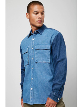 Multi Panel Denim Shirt by Forever 21