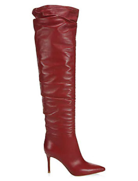 Valeria Over The Knee Leather Boots by Gianvito Rossi