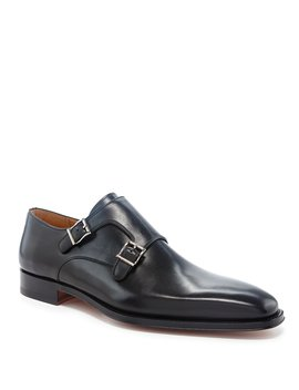 Men's Miro Leather Buckle Dress Loafers by Magnanni