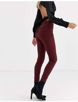 Asos Design High Waist Trousers Skinny Fit In Rioja by Asos Design