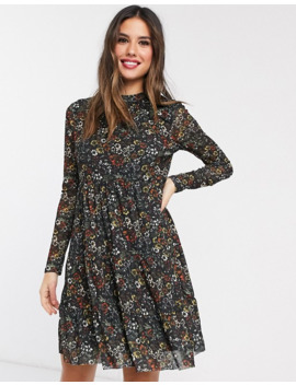 Warehouse Floral Print Mesh Dress by Warehouse