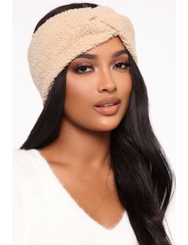 Such A Cutie Headband   Beige by Fashion Nova