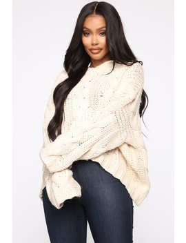 Ready For Whatever Hoodie Sweater   Ivory by Fashion Nova