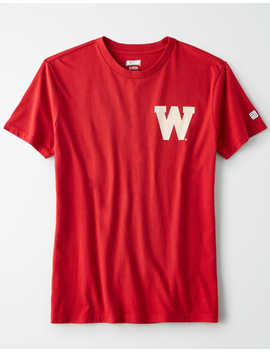 Tailgate Women's Wisconsin Badgers Graphic T Shirt by American Eagle Outfitters