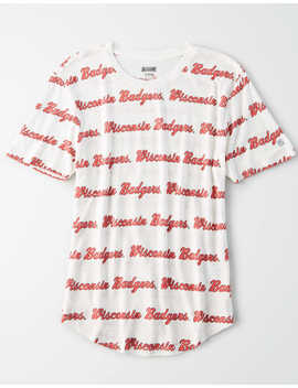 Tailgate Women's Wisconsin All Over Graphic T Shirt by American Eagle Outfitters