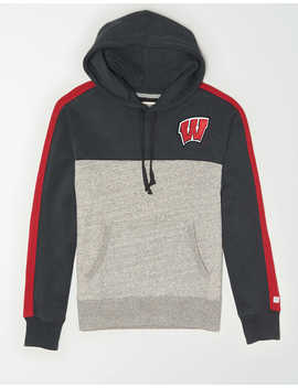 Tailgate Men's Wisconsin Badgers Fleece Hoodie by American Eagle Outfitters