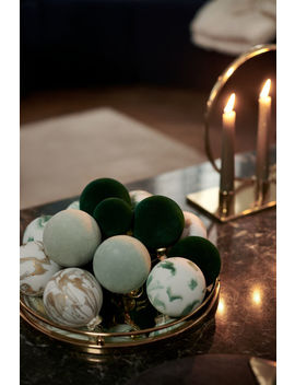 2 Pack Glass Baubles by H&M