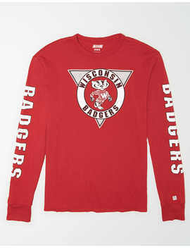 Tailgate Men's Wisconsin Badgers Long Sleeve T Shirt by American Eagle Outfitters