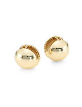 14 K Yellow Goldplated Stud Earrings by Jules Smith