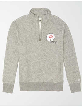 Tailgate Men's Wisconsin Badgers Quarter Zip Sweatshirt by American Eagle Outfitters