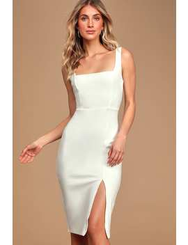 Baby, You're The One White Sleeveless Bodycon Midi Dress by Lulus