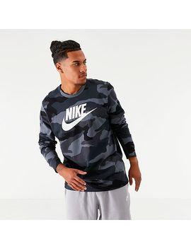 Men's Nike Sportswear Camo Long Sleeve T Shirt by Nike
