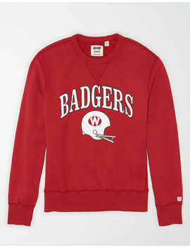 Tailgate Men's Wisconsin Badgers Sweatshirt by American Eagle Outfitters