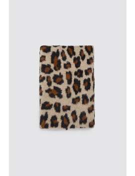 Soft Animal Print Scarf by Zara