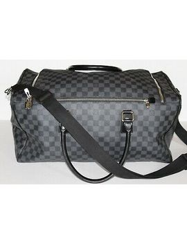 Pre Owned Louis Vuitton Duffle Bag, Leather, Black by Louis Vuitton