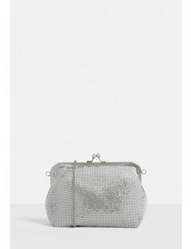 Silver Chain Mail Clip Top Pouch Bag by Missguided