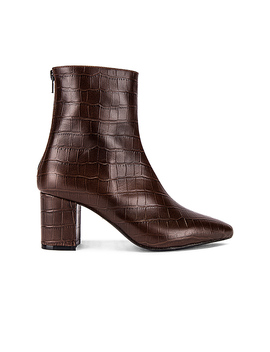 Halo Bootie In Brown by Raye