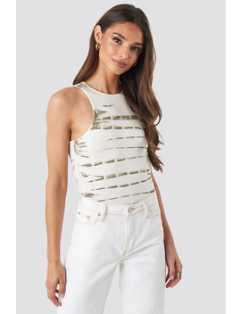 Tie Dye Tank Top White by Na Kd Trend