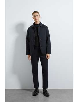 Padded Water Repellent Traveler Blazer by Zara