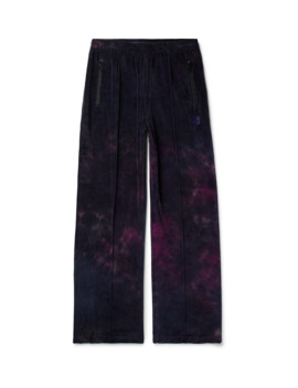 Tie Dyed Cotton Blend Velour Track Pants by Needles