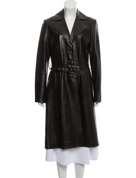 Leather Belted Coat by Christian Dior