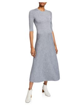Seymore Wool Cashmere 1/2 Sleeve Dress by Gabriela Hearst