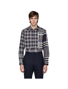 Navy Check Chalkstone Shirt by Burberry