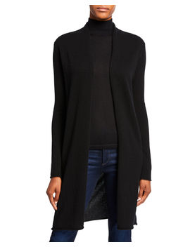 Plus Size Basic Cashmere Duster Cardigan by Neiman Marcus Cashmere Collection