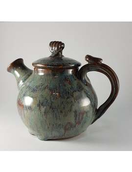 New Marble Glazed Teapot by Etsy