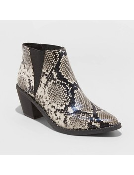 Women's Luna Faux Leather Studded Welt Snake Bootie   Universal Thread™ by Universal Thread