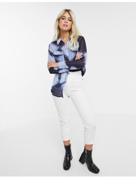 Jdy Roxanne Long Sleeve Tie Dye Print Shirt by Jdy's
