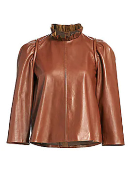 Lidia Leather Top by Sea