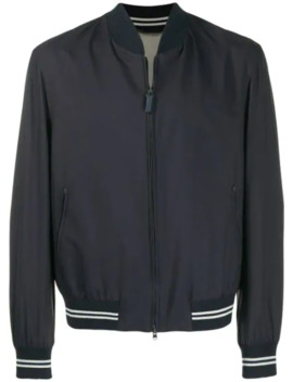 Contrast Trim Bomber Jacket by Brioni