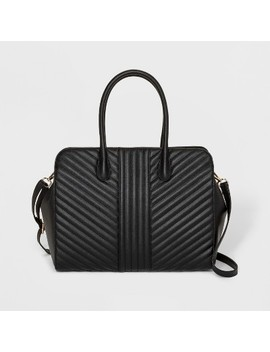 Quilted Tote Handbag   A New Day™ Black by A New Day